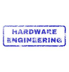 Hardware engineering rubber stamp vector