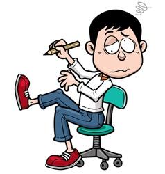 Man working hard vector image vector image