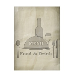 menu stencil from old paper pattern texture vector image vector image