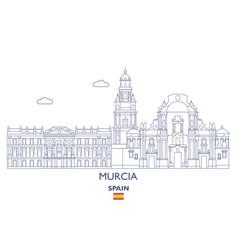 Murcia city skyline vector