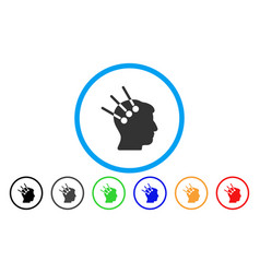 Neural interface rounded icon vector