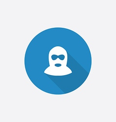 offender Flat Blue Simple Icon with long shadow vector image vector image