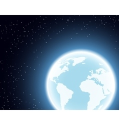 Planet Earth in the Space vector image vector image