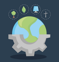 Save the world and clean energy concept design vector