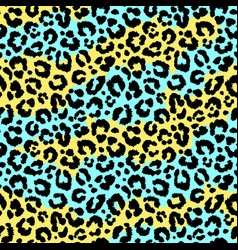 Seamless leopard wild pattern animal print vector