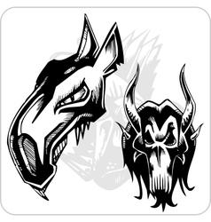 Set - Aggressive Ox vector image vector image