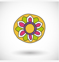 sombrero icon with round shadow vector image