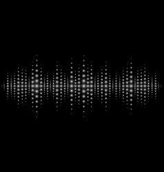 sound waves light effect music digital equalizer vector image vector image