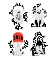 Spooky sale ghost vector