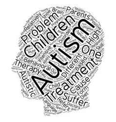 The different types of autism treatment text vector