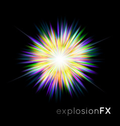 The supernova explosion light vector