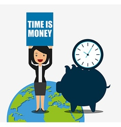 time is money design vector image