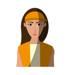 young pretty woman icon image vector image