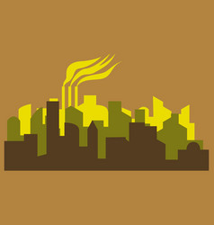 - the silhouette of the city in a flat style vector image vector image