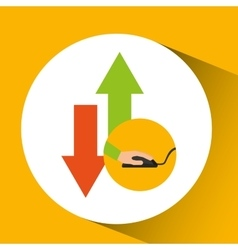 Development app technology download upload vector