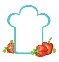 peppers cap vector image