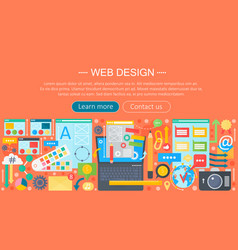 Web design flat concept programming apps vector