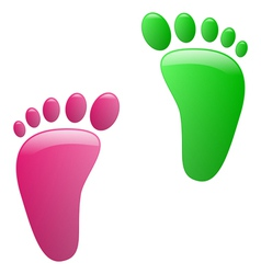Children footprint vector image