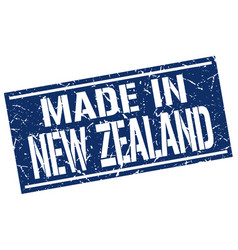 Made in new zealand stamp vector