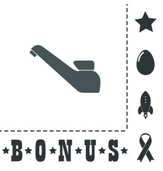 Drinking faucet icon sign and button vector