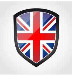 Shield with flag inside - united kingdom - uk vector