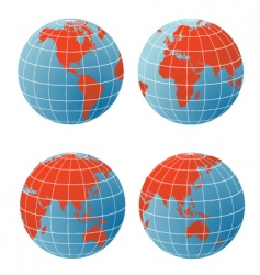 Geographical icons vector