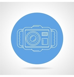 Diving camera round icon vector