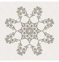 Filigree flower henna pattern vector
