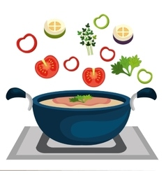 Healthy and delicious food vector