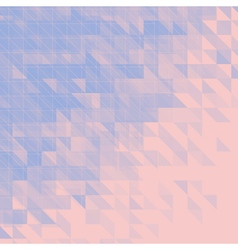Blue and pink triangular abstract background vector
