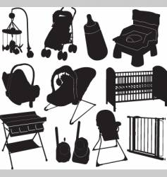 Baby silhouettes vector