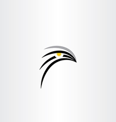 Bird hawk icon symbol vector
