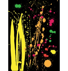 Colored splashes vector image vector image