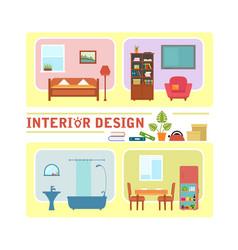 concept interior design vector image