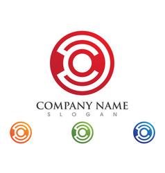 connecting concept logo template icon design vector image