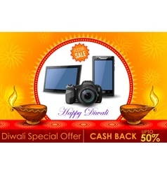 Festive Shopping Offer for Diwali holiday vector image vector image