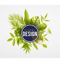 Frame floral lime vector image vector image