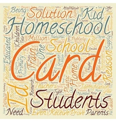 Homeschool id cards text background wordcloud vector