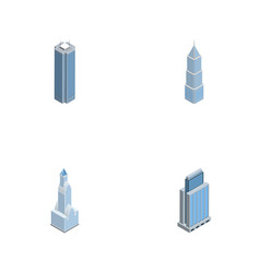 Isometric construction set of cityscape vector