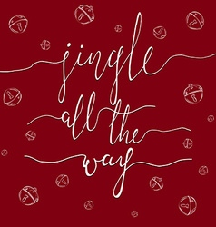 Jingle all the way vector