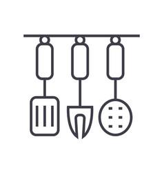 kitchenware kitchen accessories line icon vector image vector image
