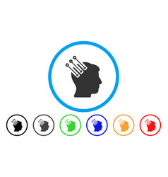Neuro interface rounded icon vector