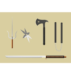 ninja equipment vector image vector image