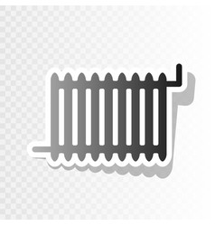 radiator sign new year blackish icon on vector image vector image