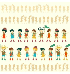 seamless children pattern vector image