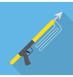 Spear gun or harpoon weapon vector image vector image