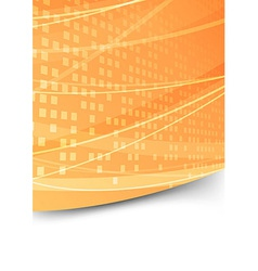 Square abstract folder orange template vector image vector image