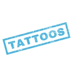 Tattoos Rubber Stamp vector image vector image