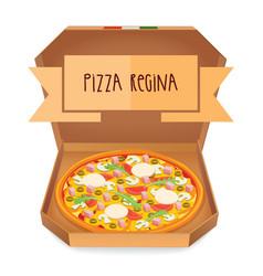 The real pizza regina pizza queen italian pizza vector