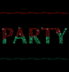 Two colored glitter party vector
